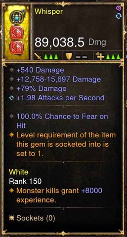 Whisper 100% FEAR Bow 2.x APSpeed-Diablo 3 Mods - Playstation 4, Xbox One, Nintendo Switch