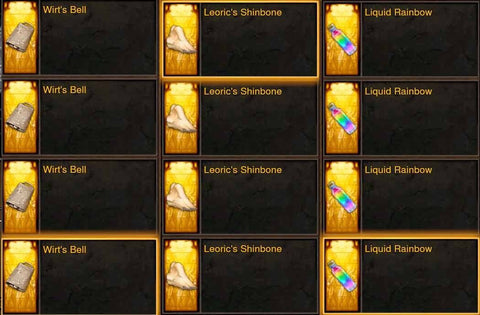 30x Wirt's Bell + 30x Leorics Shinebone + 30x Liquid Rainbow Bundle for opening Whimsyshire Lot #2-Diablo 3 Mods - Playstation 4, Xbox One, Nintendo Switch