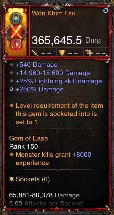 [Primal Ancient] 365k Actual DPS Won Khim Lau-Diablo 3 Mods - Playstation 4, Xbox One, Nintendo Switch