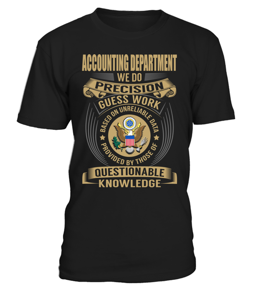 Accounting Department - We Do Precision Guess Work