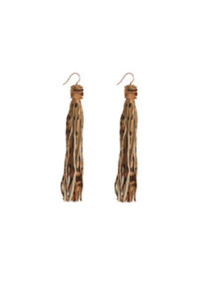 Rock 'n Fringe Earrings Bespoke Hide on Hair