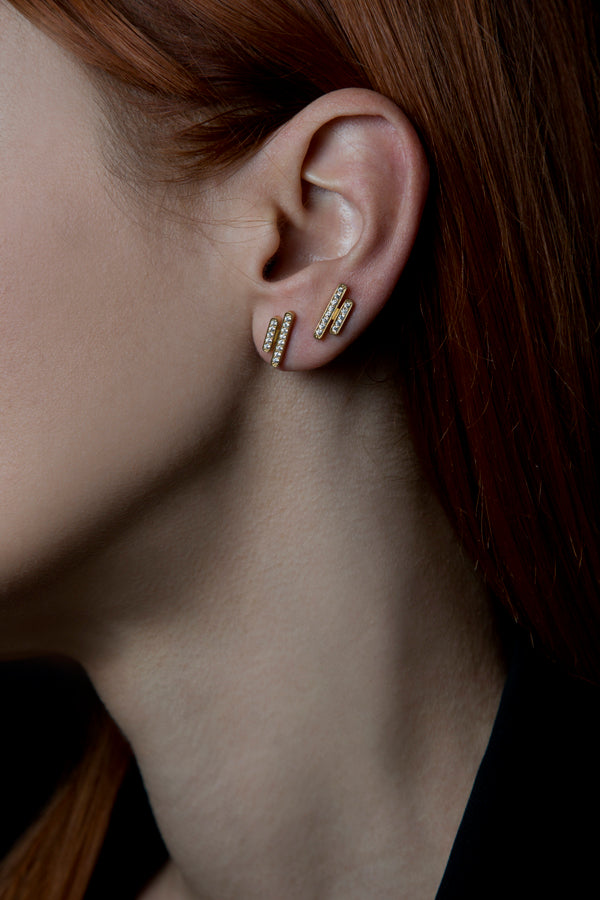 Geometry lines earrings