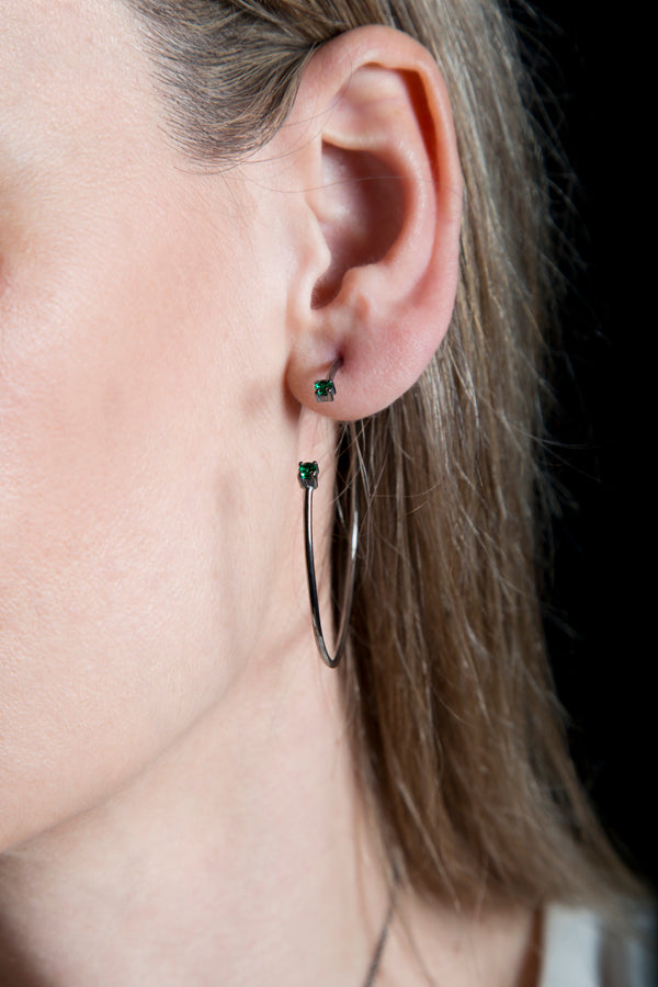 Bound in two stones XL hoops