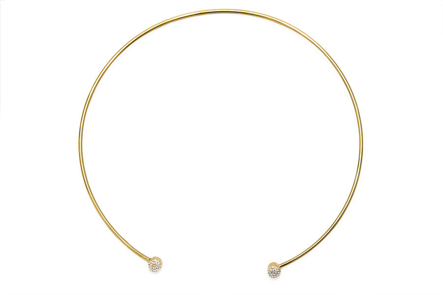 Gold bling chocker