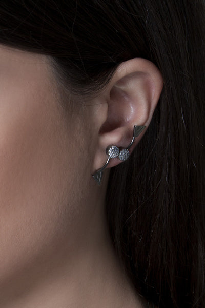 Bling geometry earcuff
