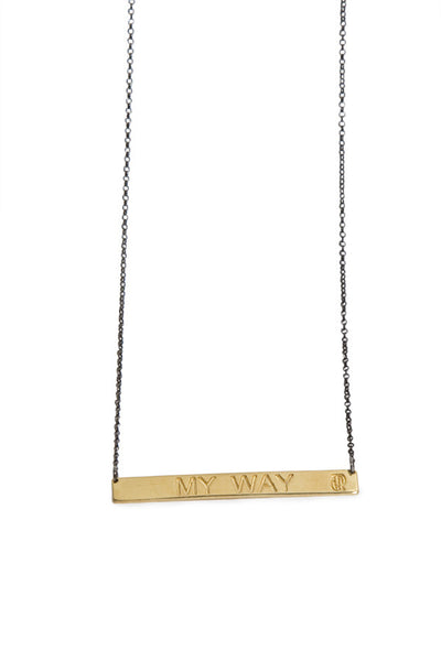 My way  ...Tag necklace