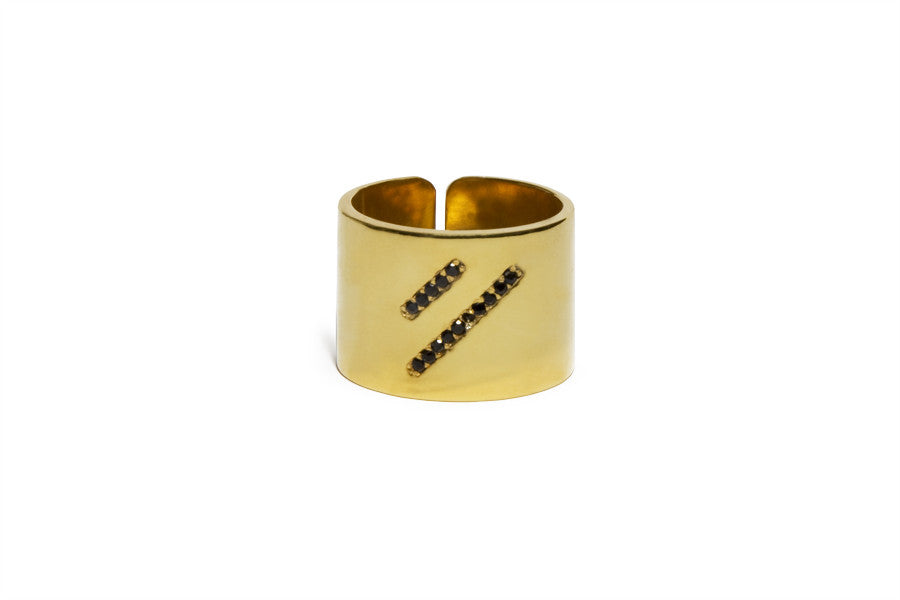 Bling geometry lines ring