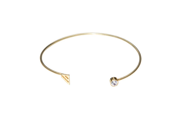 Geometry lines gold plated silver cuff