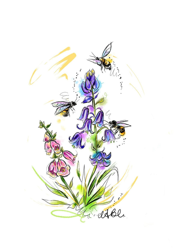 spring art print by tattoo artist angharad chappelle