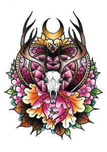 antlers limited edition print by tattoo artist daryl watson