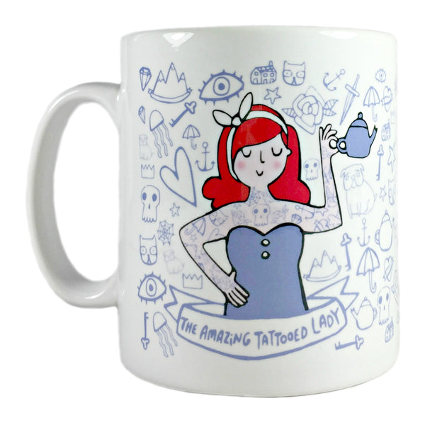 amazing tattooed lady mug by katie abey