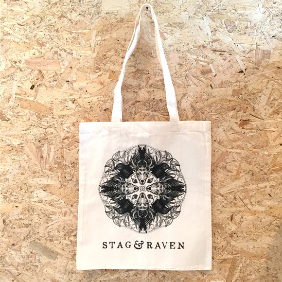 Stag and Raven Tote Bag