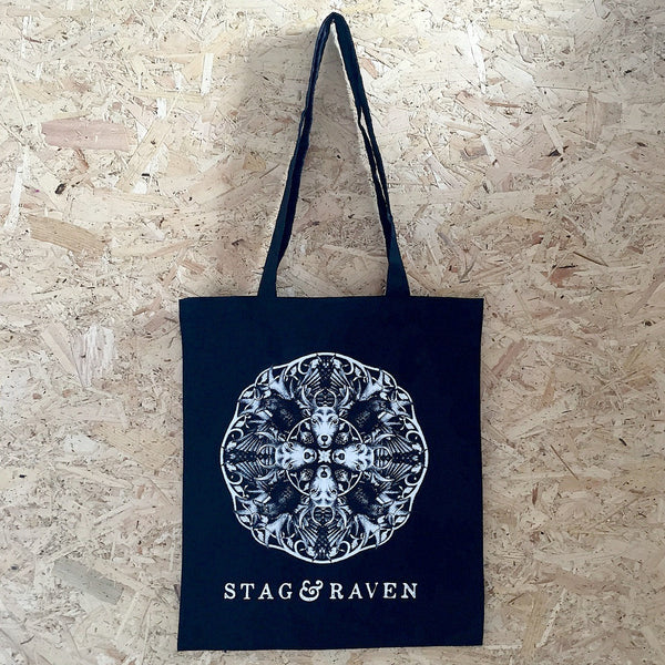 Stag & Raven Black Tote Bag