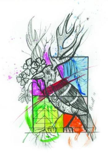 chroma limited edition art print by tattoo artist hollie may wall