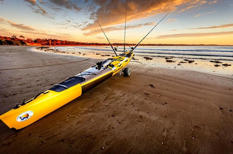 soft sand beachwheels kayak carts Melbourne
