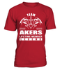 Team AKERS Lifetime Member Legend Last Name T-Shirt