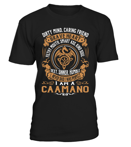 CAAMANO Brave Heart Last Name T-Shirt