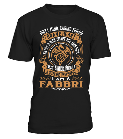 FABBRI Brave Heart Last Name T-Shirt