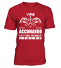 Team ACCOMANDO Lifetime Member Legend Last Name T-Shirt