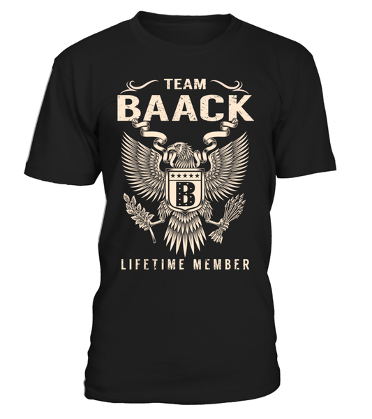 Team BAACK Lifetime Member Last Name T-Shirt