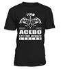 Team ACEBO Lifetime Member Legend Last Name T-Shirt