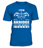 Team AKRIDGE Lifetime Member Legend Last Name T-Shirt