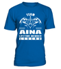 Team AINA Lifetime Member Legend Last Name T-Shirt