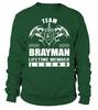Team BRAYMAN Lifetime Member Legend Last Name T-Shirt