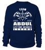 Team ABDUL Lifetime Member Legend Last Name T-Shirt
