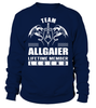 Team ALLGAIER Lifetime Member Legend Last Name T-Shirt