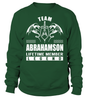 Team ABRAHAMSON Lifetime Member Legend Last Name T-Shirt