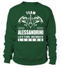 Team ALESSANDRINI Lifetime Member Legend Last Name T-Shirt