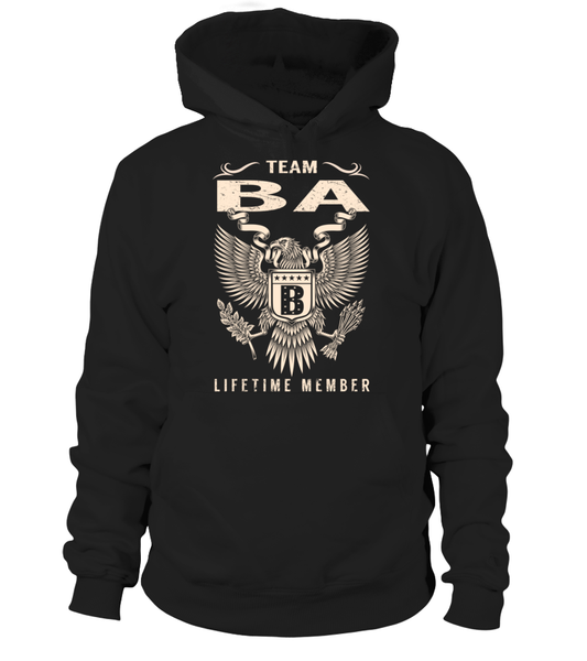 Team BA Lifetime Member Last Name T-Shirt