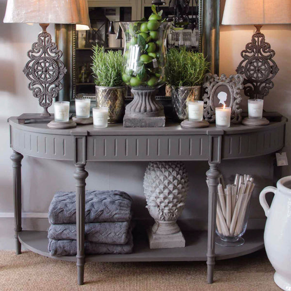 Dark Gery Console Table