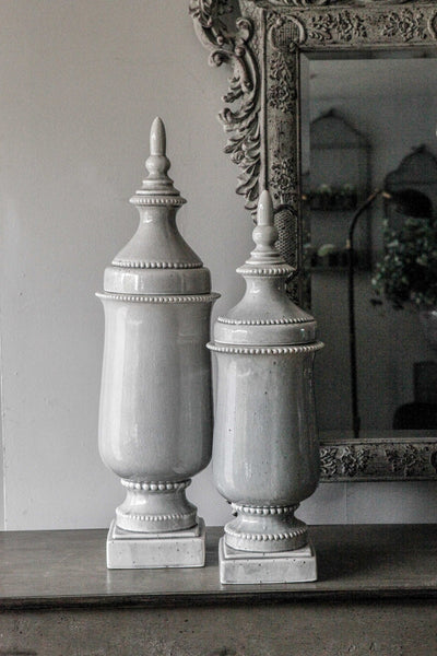 Finial Ceramic Jar