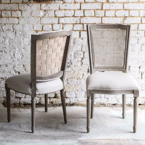 Hessian Backed Dining Chair