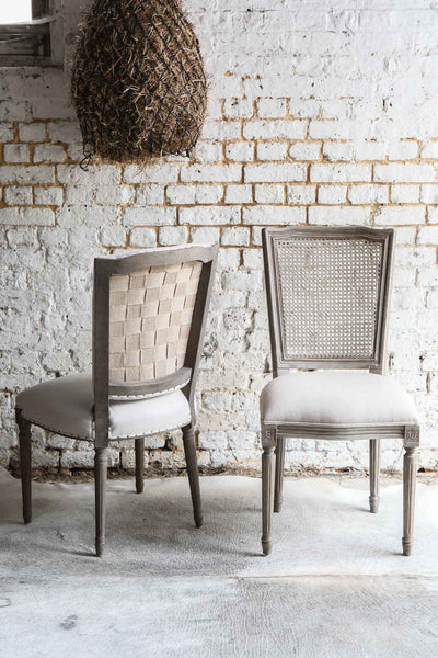 Wicker-Backed Dining Chair