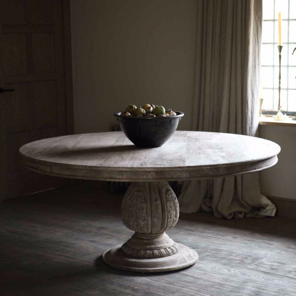 Round Rustic Table