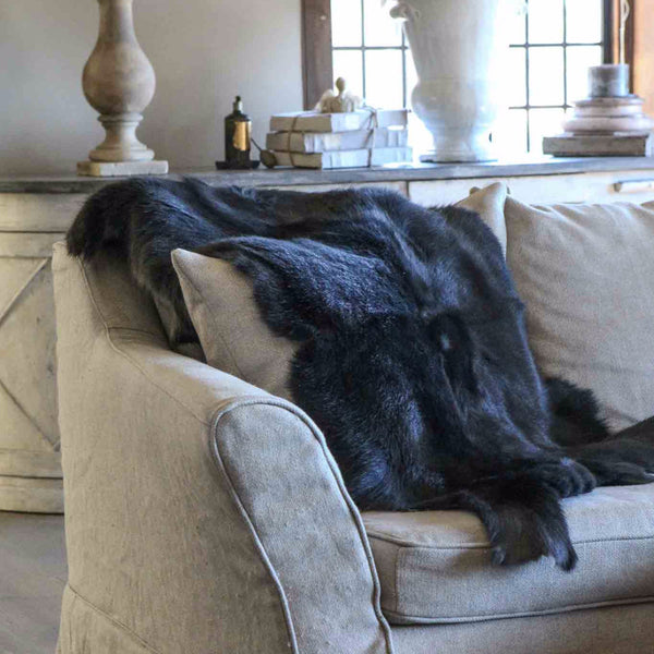Dark Grey and Black Reindeer Hides OUT OF STOCK