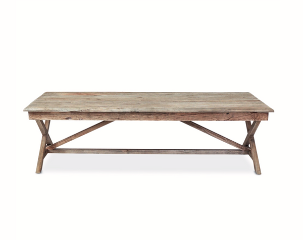 Rustic wood coffee table - ref WHN001