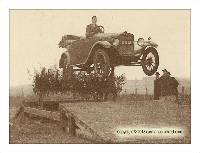 Motor Car Steeple Chasing in the 1920's