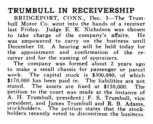1915 Trumbull in receivership