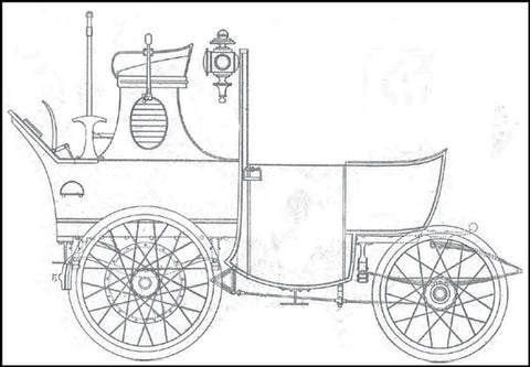 1894 drawing of an early Australian Automobile