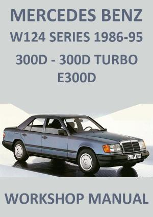 MERCEDES BENZ W124 300 Diesel Workshop Manual 1986-1995