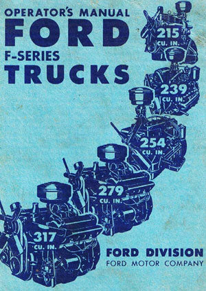 Ford F Series Truck 1951 Operators Owners Manual - FREE