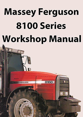 MASSEY FERGUSON Tractor 8100 Series Workshop Manual