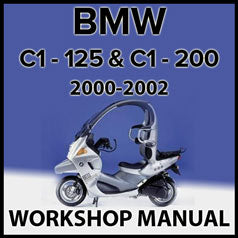 BMW C1 & C1 200 2000-2002 Workshop Manual