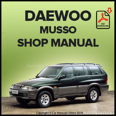 DAEWOO Musso Workshop Manual | carmanualsdirect