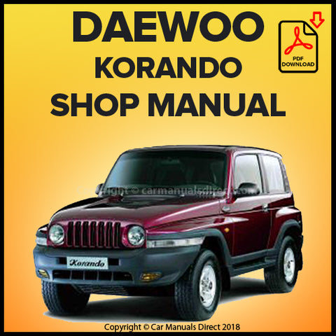DAEWOO Korando 1999-2001 Workshop Manual | carmanualsdirect