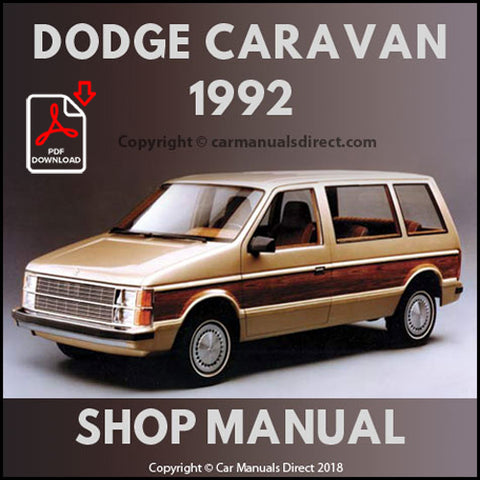 DODGE 1992 Caravan and Grand Caravan FWD & AWD Shop Manual | carmanualsdirect